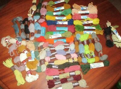 Bulk lot of x 48 TAPESTRY WOOL SKEINS Assorted Lot