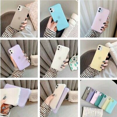 For iPhone 11 Pro Max XS XR X 8 7 6s Ultra Slim Frosted Soft Rubber Case Cover