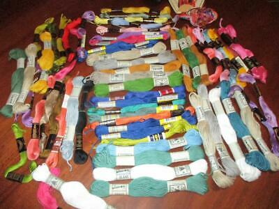 Vintage Tin of x 60 Embroidery Skeins Assorted Lot