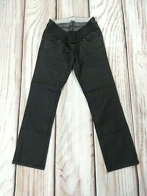 Mamas and Papas Maternity Jeans Under Bump Stretchy Grey Slim Size 10 S