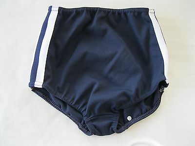 "Gymphlex Girls Athletics Briefs/Underwear Navy Blue size 22"" Age 6-10 yrs NEW"