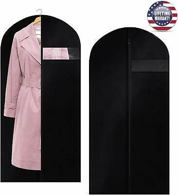 **NEW** Garment Bag Dust Suit Cover Black [2Pack] 400D Oxford Polyester