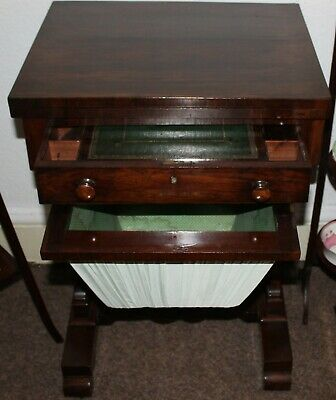Victorian Oak and Mahogany Games and Sewing Table - c.1880