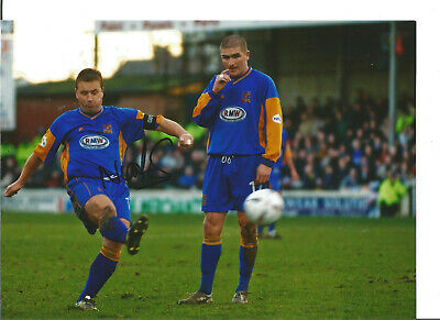Football Autograph Nigel Jemson Shrewsbury Town Signed 12x8 in Photograph JM45