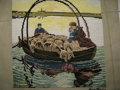 'Ave Maria' Completed Vintage Tapestry Canvas