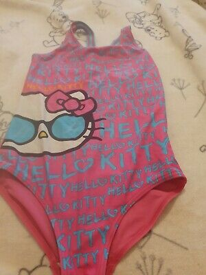 Lovely Girls George Hello Kitty Swimming Costume Age 11-12 Years
