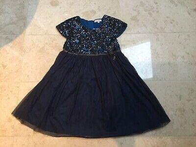 Girls MINI BODEN Sparkly Navy Party Dress - Age 9-10 Ex Condition