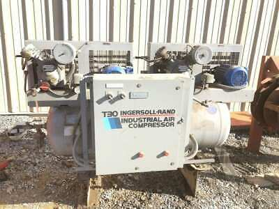 Ingersoll-Rand T30 2-234D4 15HP Two-Stage Reciprocating Air Compressor; 35 Gal