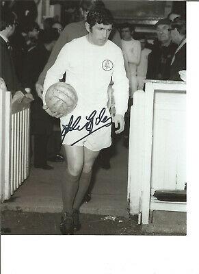 Football Autograph Johnny Giles Leeds United Signed 10x8 inch Photograph JM69