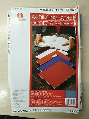 Rexel Red Blue Binding Covers 250 gsm A4
