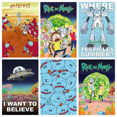 RICK & MORTY Posters - Glossy HQ Get 4 for the Price of 2 - Bedroom Wall Decor