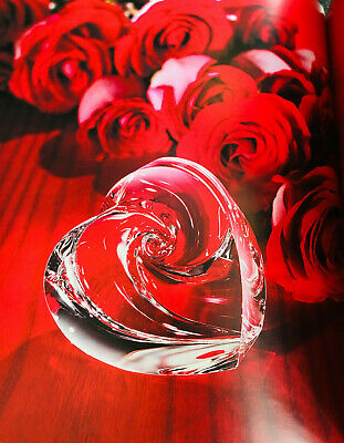 NEW in BOX STEUBEN PASSIONATE Heart Art Glass CUPID Crystal RARE LOVE Gift