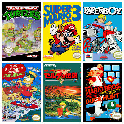 NES GAME POSTERS Vintage Retro Game Bedroom Decor Cafe Shop Wall Kids Gift Gamer