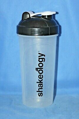 Shakeology Smoothie Shaker Bottle w/ Lid 28 fl. oz. Clear Plastic