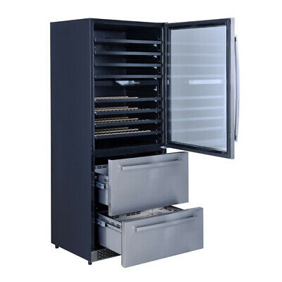 """Thor 30"""" 128-Bottle Wine and 80 Can Beverage Cooler Dual Temperature Zone Design"""