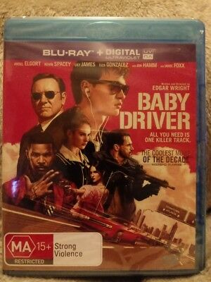 Baby Driver   - BLU-RAY - NEW AND SEALED REGION  FREE CHEAPEST ON EBAY