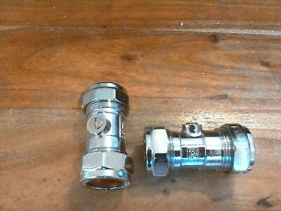 Isolation Valves 22Mm -Prestex -Pegler -Yorkshire -  -Made In England-Plumber