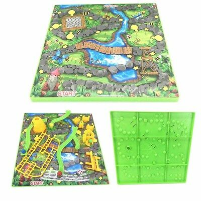 Childrens 3D Snakes & Ladders Board Game Kids Family Traditional Party Game Toy.