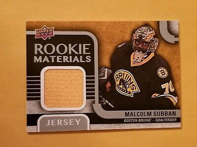2015-16 Upper Deck Rookie Materials #RM-SU Malcolm Subban RC SP Boston Bruins