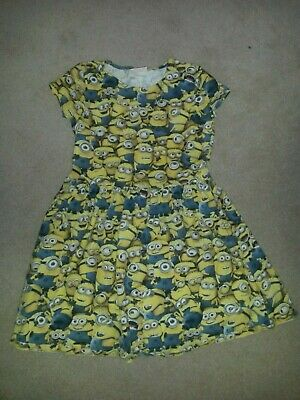 Girls Despicable me minions cute dress, 9-10yrs