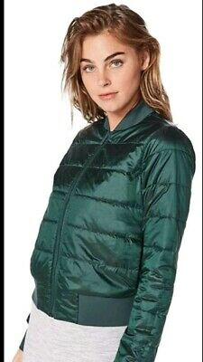 Lululemon Puffer Bomber Jacket top reversible water-repellent used once 6 uk 10
