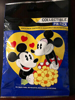 Disney Collectible Pin Pack COUPLES Mystery Bag 5 Pins Sealed in Canada