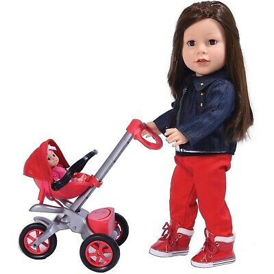 Bye Bye Baby 18 inch Doll Stroller - Great for American Girl Dolls and Accessory
