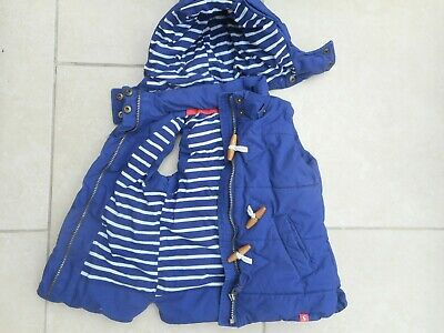 Joules  Raylin Chlds Quilted  Padded Gilet Navy / Striped Lining Age 5