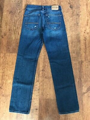 Abercrombie & Fitch Kids 16 Years Slim Straight Distressed Ripped Denim Jeans