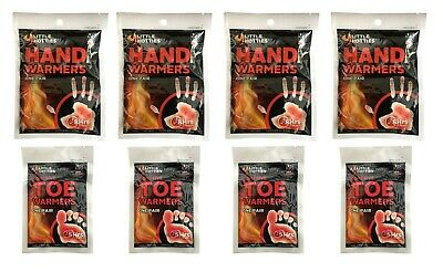 4 of Each Pairs Little Hotties Hand & Toe Warmers Fishing,SKIING,Walking,Camping