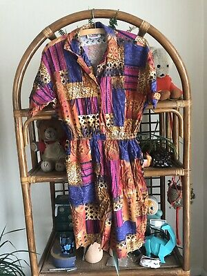 True Vintage Multicoloured Playsuit Size M