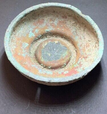 RARE - Ancient Roman Bronze Serving Bowl. 1st-2nd Century Artefact.