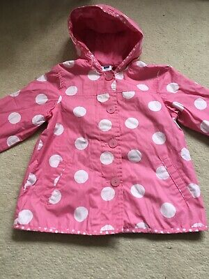 M&CO GIRLS RAIN COAT SPOTTY LIGHTWEIGHT RAIN MAC/COAT AGE 4-5 + Bag