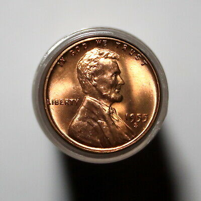 1955-S Original Roll Lincoln Wheat Cents  BU Uncirculated