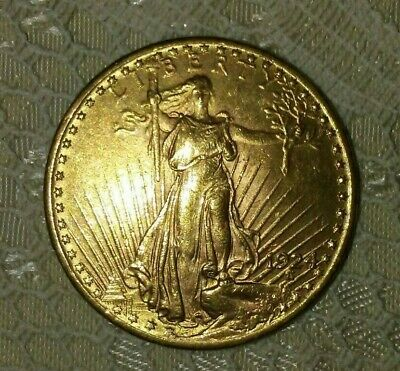 1924 Gold St. Gaudens Double Eagle $20 US Coin