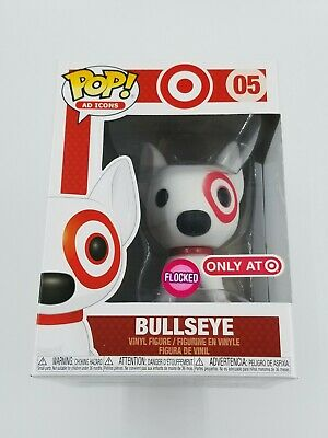 🎯 Funko POP! Ad Icons Target Flocked Bullseye with Red Collar #05  (0860) 🎯
