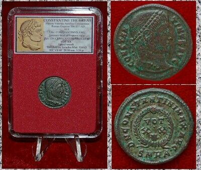 Ancient Roman Empire Coin Of  Constantine The Great Beautiful Follis!