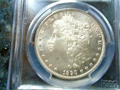 1890 Morgan Silver Dollar PCGS, MS-62 Bright Luster Sharp Coin