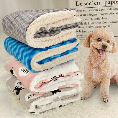Dog Cat Pet Plush Blanket Mat Warm Sleeping Bed DOg Kennel Cushion Blankets Beds