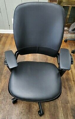 Steelcase Leap V2 Chair Black Leather Fully Adjustable Pre Owned - Local Pickup