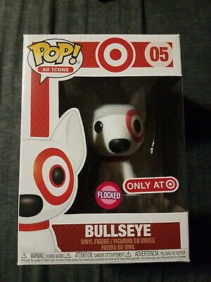 Funko POP Ad Icons Target Flocked Bullseye Red Collar In Hand SOLD OUT *MINT*