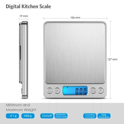 Electronic 1kg/0.1g Digital LCD Balance Scale Kitchen Food Jewelry Weight Scale
