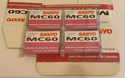 Sanyo Mc60 Micro Cassettes / Dictaphone Tapes Joblot Of 4 Brand New