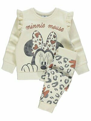 Girls Disney Minnie Mouse Joggers and Sweatshirt Outfit BNWT