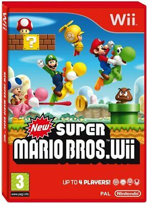 Wii - New Super Mario Brothers (Wii) - Wii CD G0VG FREE Shipping