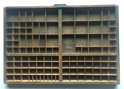 French Printers Tray, Vintage Type Setter Print Tray/Drawer (P)