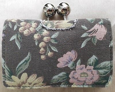 New Ladies Brown Floral Purse By E-vie