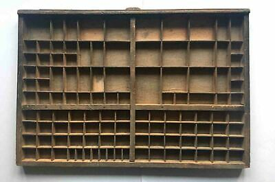 French Printers Tray, Vintage Type Setter Print Tray/Drawer (Q)