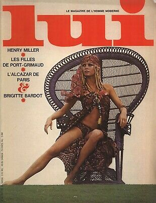 French Lui Men's Magazine September 1969 with Brigitte Bardot cover and content