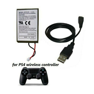1X Rechargeable Battery for PS4 Controller 2000mAh Replacement & Charging Cable